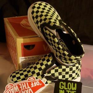 Glow in the dark Vans sz 7